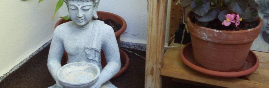 Deko, Balkon, Budda