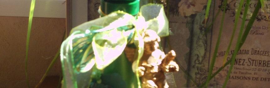 Decoupage Flasche, Drinnen, Wohnen